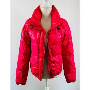 Girls Abercrombie Pink Puffer Jacket Size XL